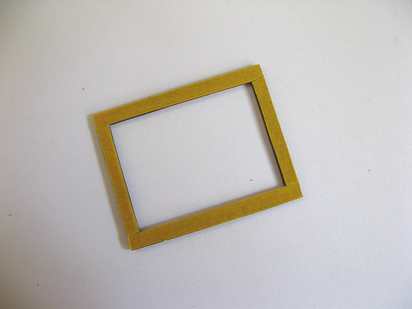 frame with double sided tape